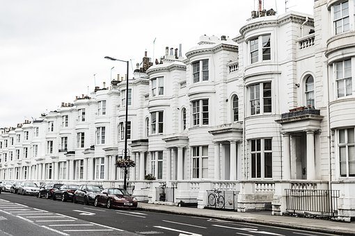London, Building, Home, England, White