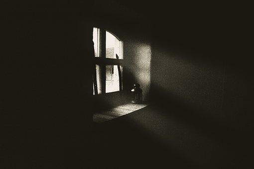 Window, Light, Dark, Architecture, Bright, Wall