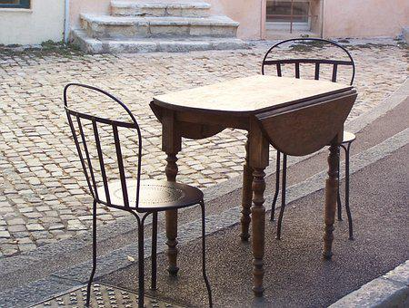 Chair, Table, Road, Brown, Auburn, Quiet Zone, Break