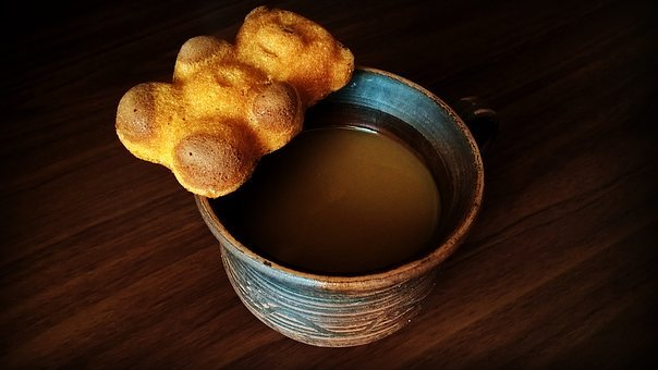 Coffee, Cup, Clay, Sponge Cake, Breakfast, Barney