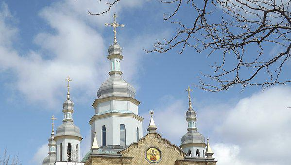 Architecture, Church, Religion, Orthodox, Cross, Dome