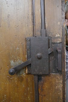 Door Lock, Metal Castle, Input, Locks To, Security