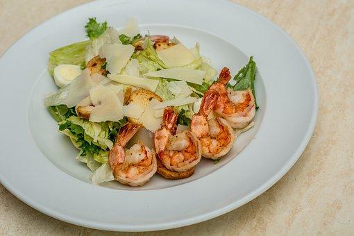 Food, Dish, Salad, Shrimp