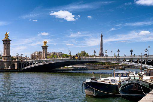 France, French, Seine, River, Eiffel, Tower, Boats