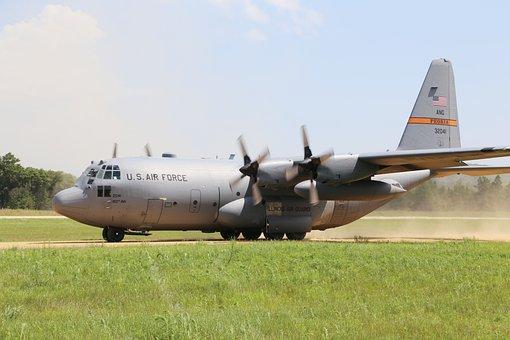 C-130 Hercules, Landing, Takeoff, Cargo Plane, Aircraft