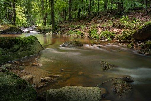 Long Exposure, Landscape, Waters, River, Flow, Romantic