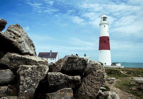 Portland Bill, Lighthouse, Rocky, Landmark, Coastal