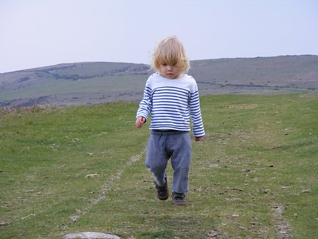 Child, Walking, Mountains, Fun, Happy, Family, Young