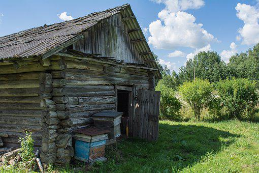 House, Old, Wooden House, Balance Beam, Old Building