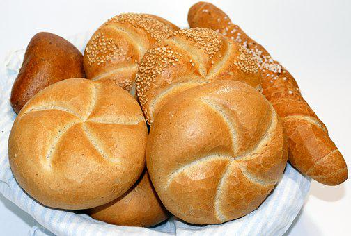 Roll, Salt Bar, Kaiser Roll, Sesame Seed Bun, Breakfast