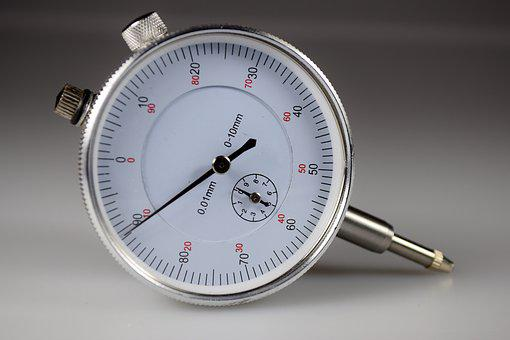 Gauge, Close, White, Silver, From The Front, Macro