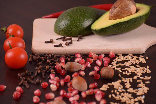 Almonds, Tomato, Avocado, Nuts, Pepper, Seeds, Food