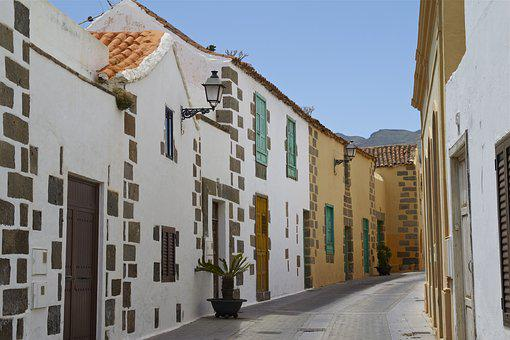 Aguimes, Gran Canaria, Alley, Away, Architecture