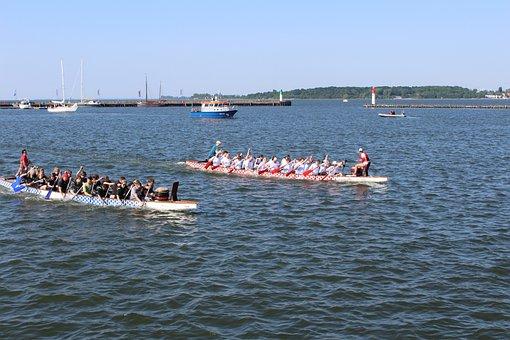 Dragon Boat, Strelasund, Baltic Sea, Stralsund, Rügen