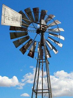 Windmill, Sky, Blue Sky