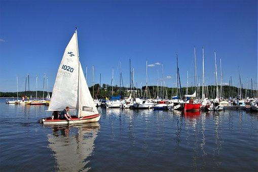 Bostalsee, Sailing Boat, Blue, Sailing Mast, Water