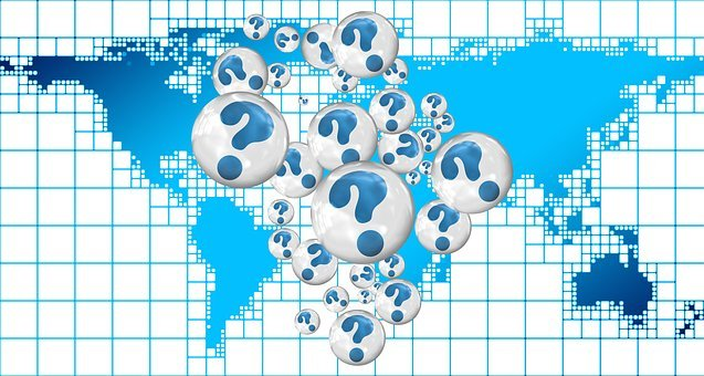 Question Mark, Policy, Problems, Continents, Globe