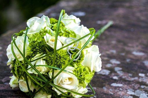 Wedding, Flowers, Bridal Bouquet, Deco, Bouquet, Roses
