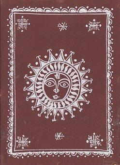 Sun Decor, Sun, Decor, Textile, Brown, Decoration