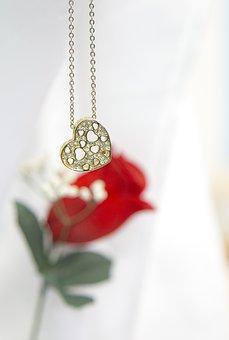 Flower, Heart, Gold