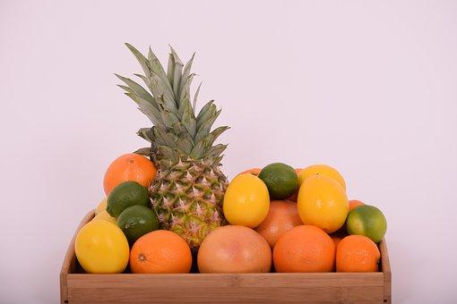 Pineapple, Tangerine, Orange, Grapefruit, Lemon, Lime