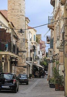 Crete, Greece, Street, Mediterranean, Island, Greek