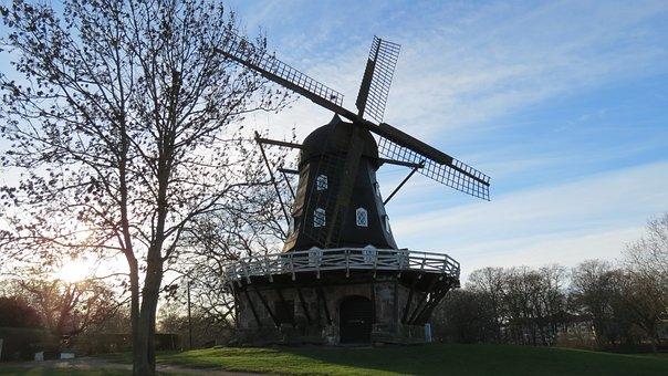 Malmö, Windmill, Park, Himmel
