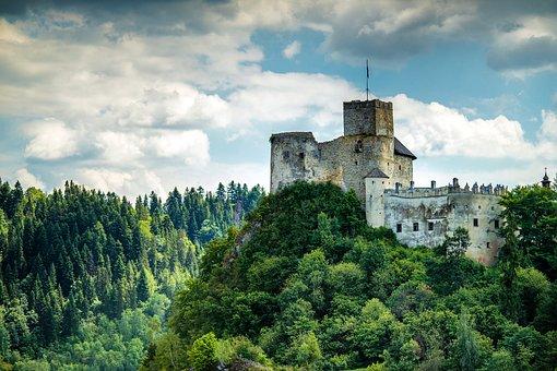 Castle, Top, Poland, Niedzica, Old, Europe, Landmark