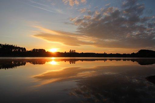 Sunrise, Morgenstimmung, Skies, Sky, Clouds, Sun
