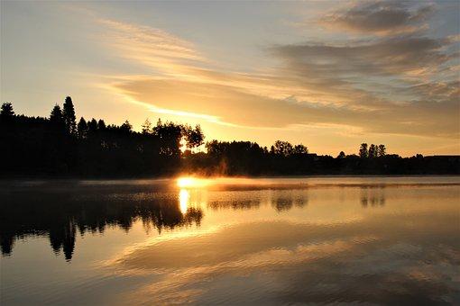 Morning Sun, Sunrise, Sun, Morgenstimmung, Nature