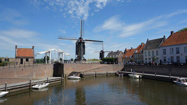 Mill, Netherlands, Holland, Historic Mill
