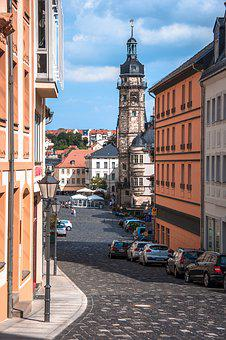 Altenburg, Road, Downtown, Old Town, City, Cobblestones
