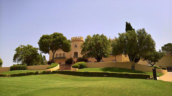 Castle, Spanish, Golf, Outdoor, Cultural