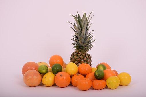 Pineapple, Orange, Tangerine, Grapefruit, Lemon, Lime