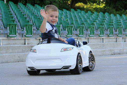 Auto, Children's Car, Boy, Toy, Cars, Small Driver