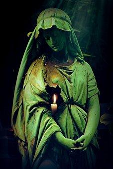 Woman, Sculpture, Figure, Cemetery, Grave, Tomb