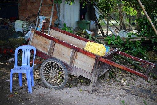 Chair, Rear Car, Wagon, Landscape, Things
