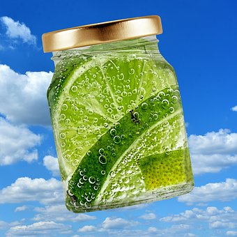 Glass, Refreshment, Lime, Bubble, Drink