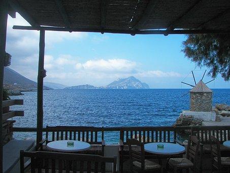 Restaurant, Terrace, Cyclades, Greece, Island Hopping