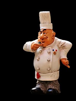 Chefs, Figures, Funny, Cook, Gastronomy, Restaurant