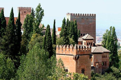 Alhambra, Spain, Granada, Andalusia, Architecture
