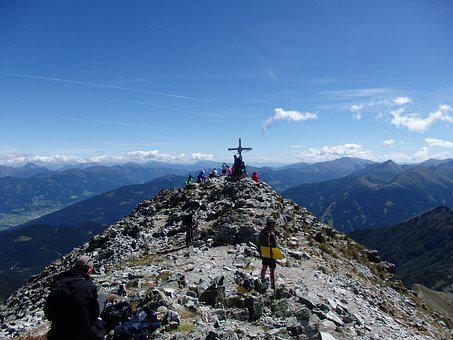 Mountains, Great Evil Stone, Rotten Men Tauern, Austria