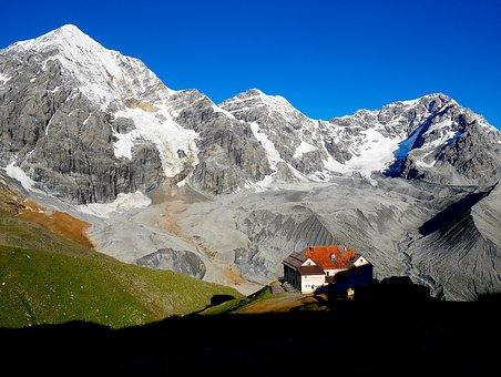 Mountain, Hut, Mountain Hut, Alm Hut, Landscape, Alm