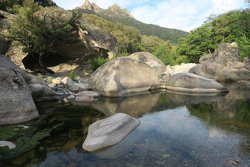 River, Nature, Water Courses, Mountain, Landscape