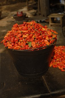Red Peppers, Food, Red, Spicy, Chili, Pepper, Vegetable