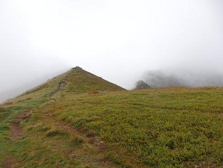 Mountains, Rotten Men Tauern, Styria, Austria, Fog