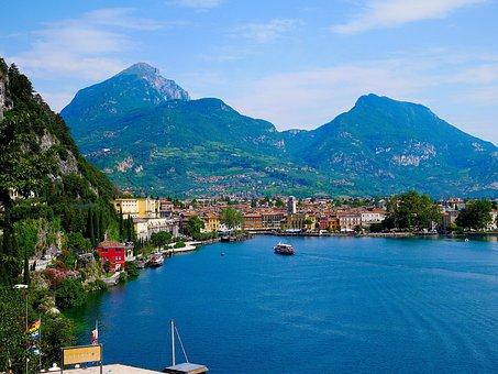 Lake, Garda, Riva, Torbole, Italy, Nature, Bank