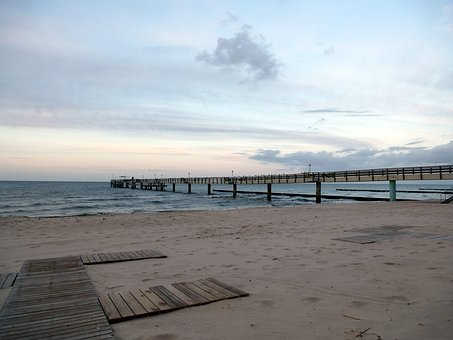 Baltic Sea, Usedom, Beach, Abendstimmung