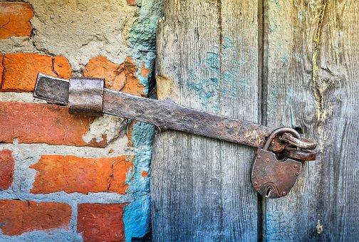 Hasp, Castle, Closed, Door, Old, Antiques, Security