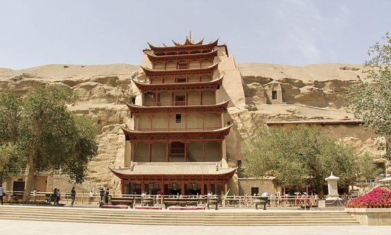 China, Gansu Province, Dunhuang, The Mogao Caves